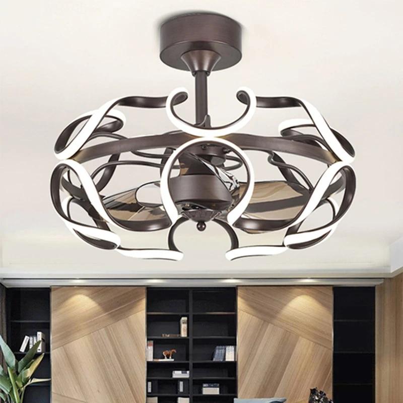 Modern Ceiling Fans With Lights For Living Bedroom Kitchen Ceiling Fan Lamp Acrylic Leaf Black Color Ceiling Fan Lamp Fixtures Ceiling Fans Aliexpress
