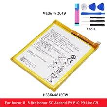 Original Real 3000mAh HB366481ECW Battery For Huawei p9/p9 lite/honor 8/p10 lite/p8 lite 2017/p20 lite/p9lite battery+Tool стоимость