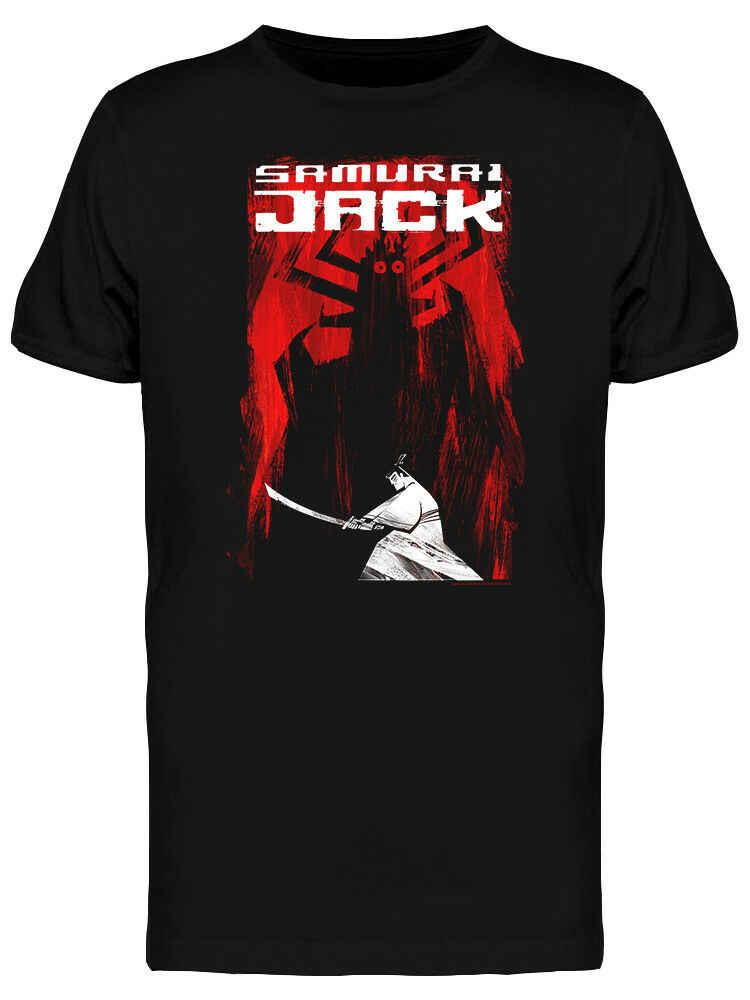 Samurai Jack Aku Grafische mannen Zwarte T-shirt
