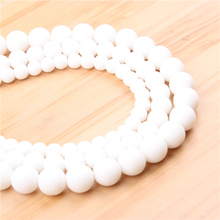 Natural Frosted 4/6/8/10/12mm?Bead?Round?Bead?Spacer?Jewelry?Bead?Loose?Beads?For?Jewelry?Making?DIY?Bracelet