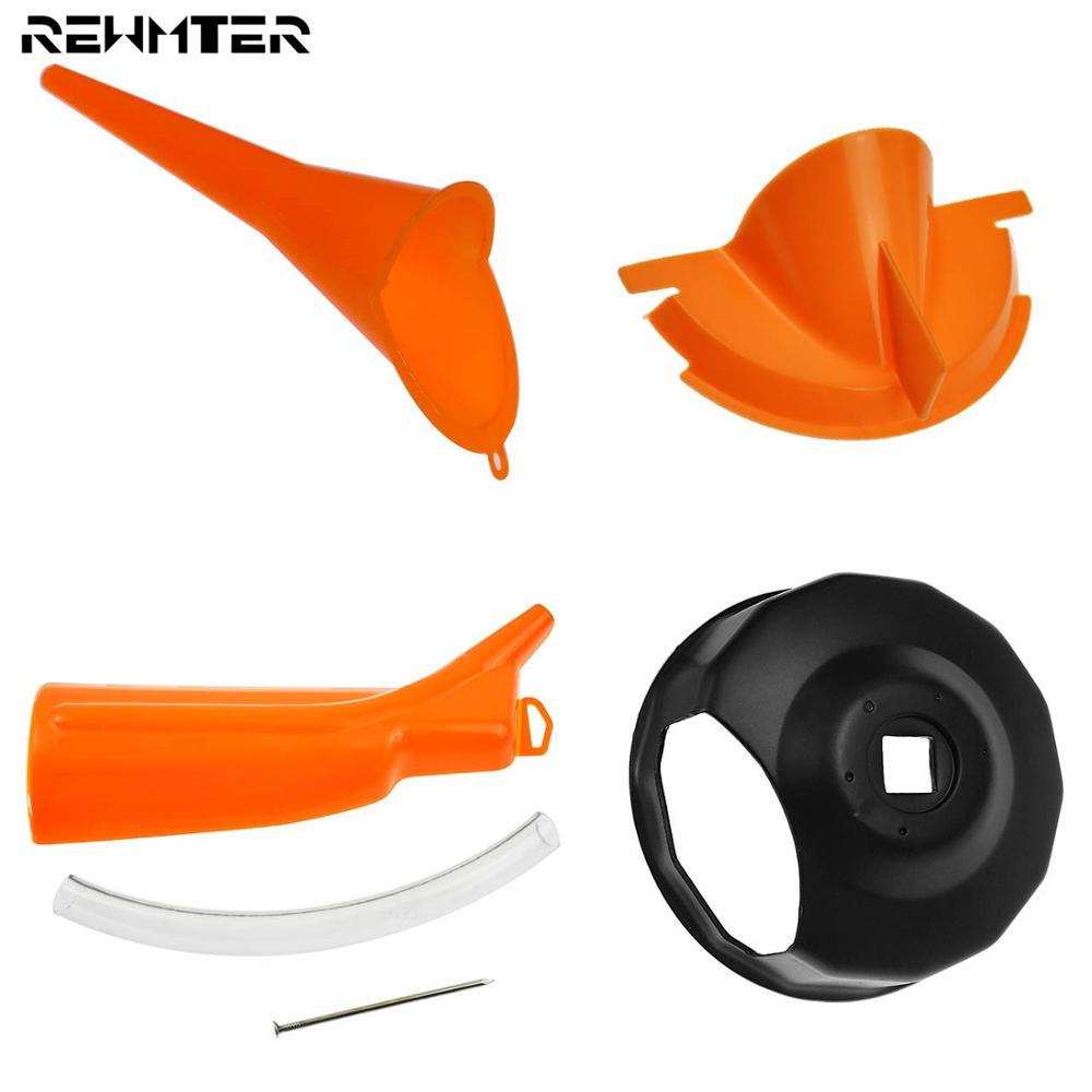 Motorcycle Primary Case Oil Fill Funnel Oil Filter Cover Funnel Set For Harley Touring Dyna Sportster XL Softail Fat Boy