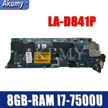 LA-D841P Laptop motherboard for Dell XPS-13 9350 original mainboard 8GB-RAM I7-7500U