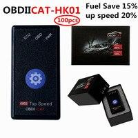 DHL 100 Uds OBDIICAT-HK01 Super OBD2 caja de conexión de Chip de ajuste coche Nitro OBD2 Ecoobd2 herramienta para reprogramación de centralitas apoyo Diesel/para coches de bencina