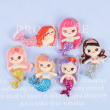 10 Pcs Creative Glittering Mermaid Slime Filling Material Accessories Kids Craft Toy Mobile Phone Case DIY Accessories