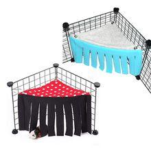 Pet Dutch Mouse Tassel Corner House Tent Squirrel Chinchilla Rabbit Hideaway House Pets Rest Play Supplies