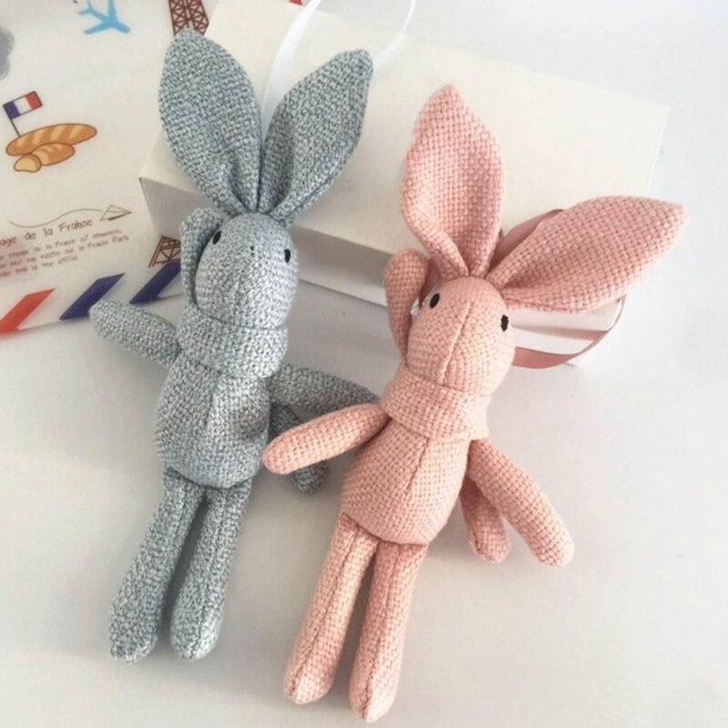 NEW Rabbit Plush Animal Stuffed Dress Rabbit Key chain TOY Kid's Party Plush TOY Bouquet Plush Dolls