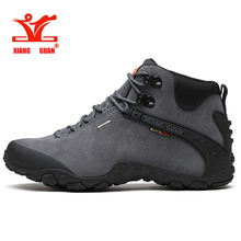 XIANG GUAN Men Hiking Shoes Male Waterproof Trekking Boots Outdoor Jogging Sneakers Tactical Trainers Climbing Mountain Shoes   цена и фото