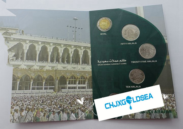 Arabia Saudita 5pcs monete moneta originale con libri Con Copertina Rigida di raccolta regalo presente