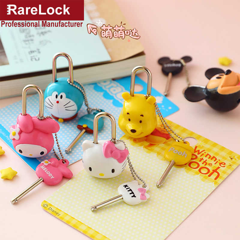 Rarelock Cartoon Padlock Mini Baby Child Travel Bag Sport Backpack Handbag Jewerly Box Lock DIY MMS573 hh