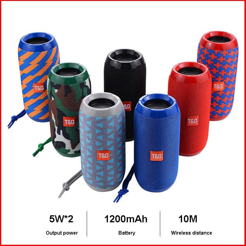 TG117 WirelessBluetoothSpeaker Column Portable Speaker Subwoofer Soundbox 10W Bluetooth Outdoor with TF Card FM Radio