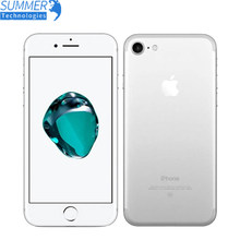 Original apple iphone 7 telefone móvel 2 gb ram 32/128 gb/256 gb rom quad-core 12.0mp impressão digital touch id usado smartphone(China)