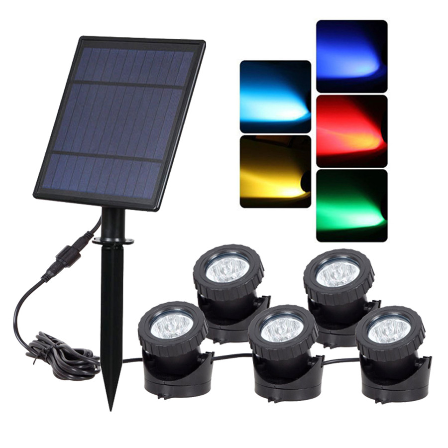 Thrisdar Solar Led Underwater Lights Waterproof IP68 Swimming Pool Solar Spotlight Lawn Lamp Fountains Pond Submersible Lamps