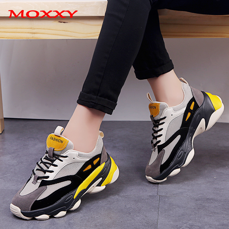 2019 New Vintage Dad Sneakers Platform Brand Chunky Sneakers Women Fashion Casual Shoes Woman Comfort Basket Chaussures Femme