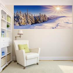 Из набора цифровой наклейка с принтом Зимний горный Снежный прицел гостиная Входная библиотека декоративная живопись поставляется с