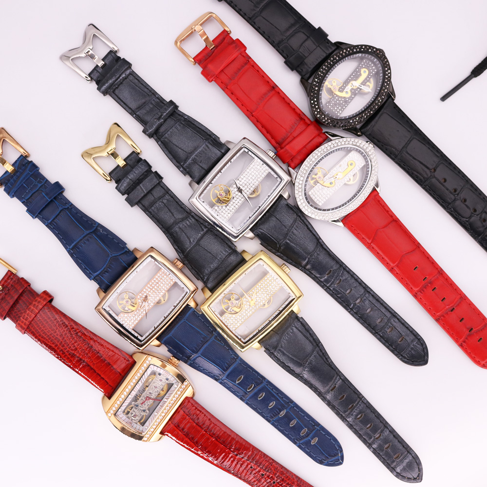 SALE!!! Discount Mechanical Hand Wind Melissa Davena Crystal Old Types Men' Women's Watch Leather Hours Girl's Gift