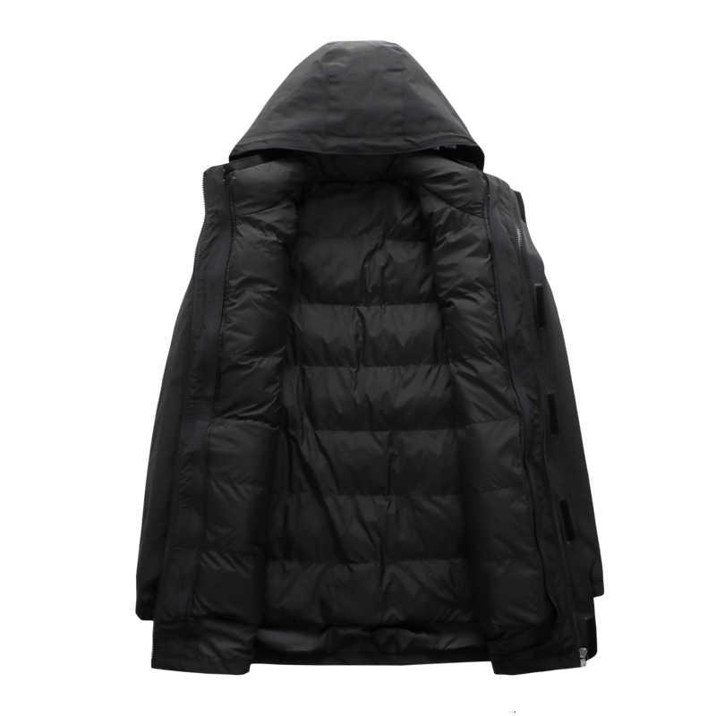 Plus tamanho 8xl 7xl inverno jaqueta térmica homem à prova dthick água grosso quente 2 em 1 parkas retalhos à prova de vento com capuz casacos outwear