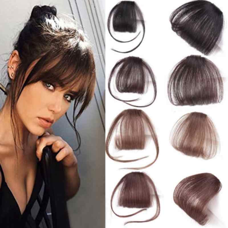 New fashion beautiful air bangs Human Hair Extensions Clip in/on Fringe Front Hairpiece