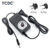 Ac ajustável à c.c. 3v 9v 12v 24 v adaptador de alimentação universal fonte de alimentação carregador de comutação adatper 3 9 12 24 v volt ac 100-240v