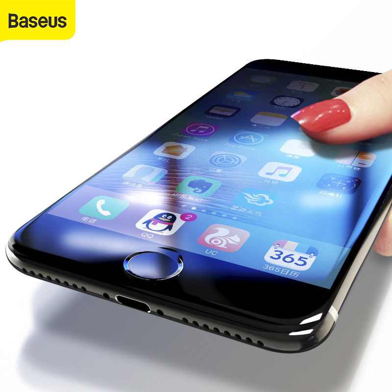 <font><b>Baseus</b></font> 3D Screen Protector For <font><b>iPhone</b></font> 7 <font><b>6</b></font> <font><b>6s</b></font> full Curved Tempered Glass For <font><b>iPhone</b></font> 7 <font><b>6</b></font> <font><b>6s</b></font> Plus Full Cover Protective Screen Film image