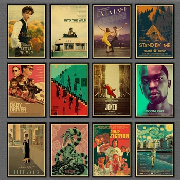 Classic Movie Propaganda Poster Akira /Pulp Fiction/Breakfast at Tiffany's Retro Posters and Prints Painting Wall sticker gringo movie poster posters