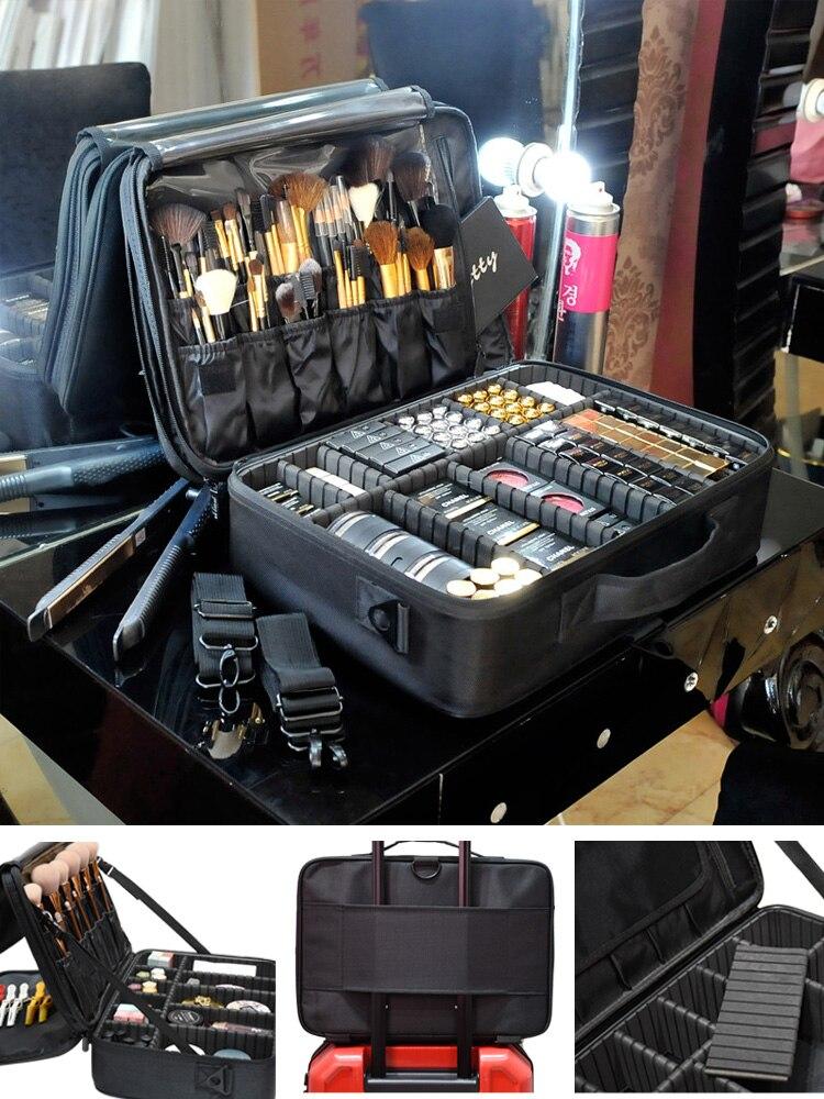 Cosmetic Case Storage-Bag Makeup-Organizer Travel Professional High-Quality Bolso Empty