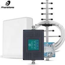 Répéteur GSM 4G 900/1800/2100 2G 3G 4G Signal Booster téléphone portable DCS LTE 1800 WCDMA 2100 trois bandes Cel téléphone amplificateur cellulaire