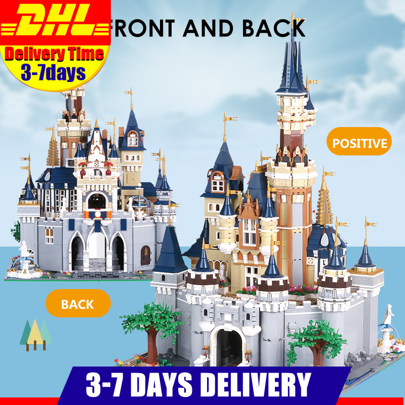 Mould King <font><b>13132</b></font> 8388Pcs Paradise Princess Cinderella Dream Castle Creator UCS Set Building Blocks Bricks 71040 16008 Kids Toys image