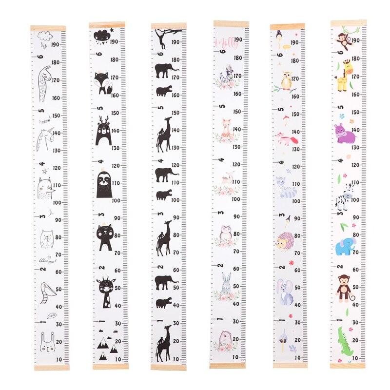 Sahne ahşap duvar asılı bebek boy ölçü cetvel duvar Sticker dekoratif çocuk çocuklar büyüme grafik yatak odası ev dekorasyon için