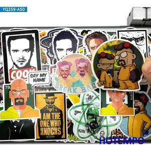 50pcs TV Series Breaking Bad Style Stickers Walter White for Mobile Phone Laptop PAD Suitcase Skateboard Bike Car Decal Stickers
