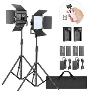 Neewer photography LED Video Light Kit 2-Pack 2.4G photo studio video light with Stand Bi-color 200 SMD for tik tok youtube