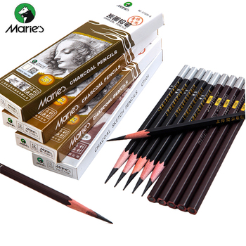 цена на Maries Soft Medium Hard Black Sketch Charcoal Pencil for Sketching Drawing Painting Office School Stationery Art Supplies