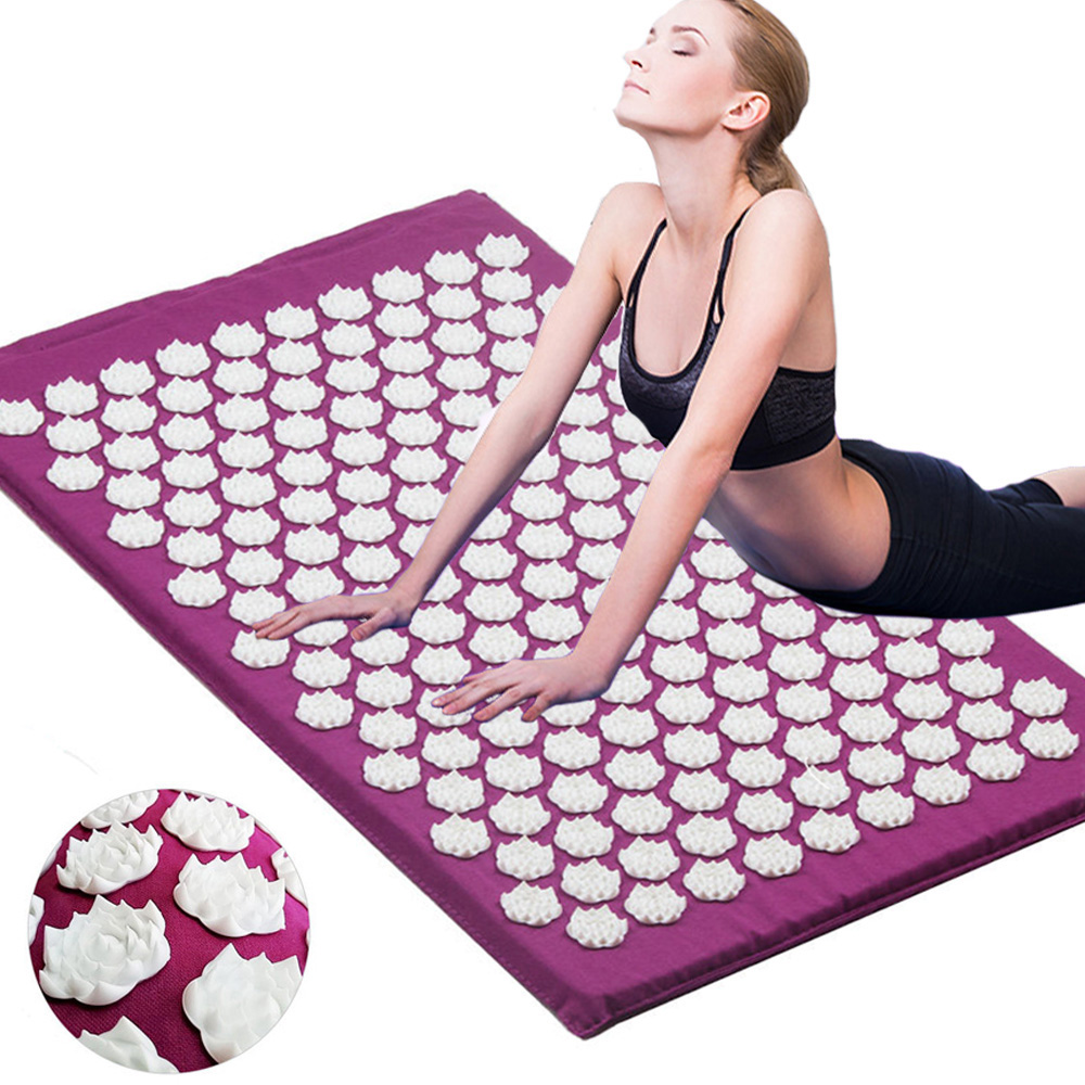 Massager Cushion Acupuncture Relieve Stress Back Pain Acupressure Mat/Pillow Massage Mat Rose Spike Massage and Relaxation