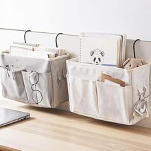 Bolsa de almacenamiento colgante organizador de almacenamiento para cabecera de cama dormitorio libro de teléfono revista bolsa de almacenamiento impermeable soporte con gancho bolsillo de cama