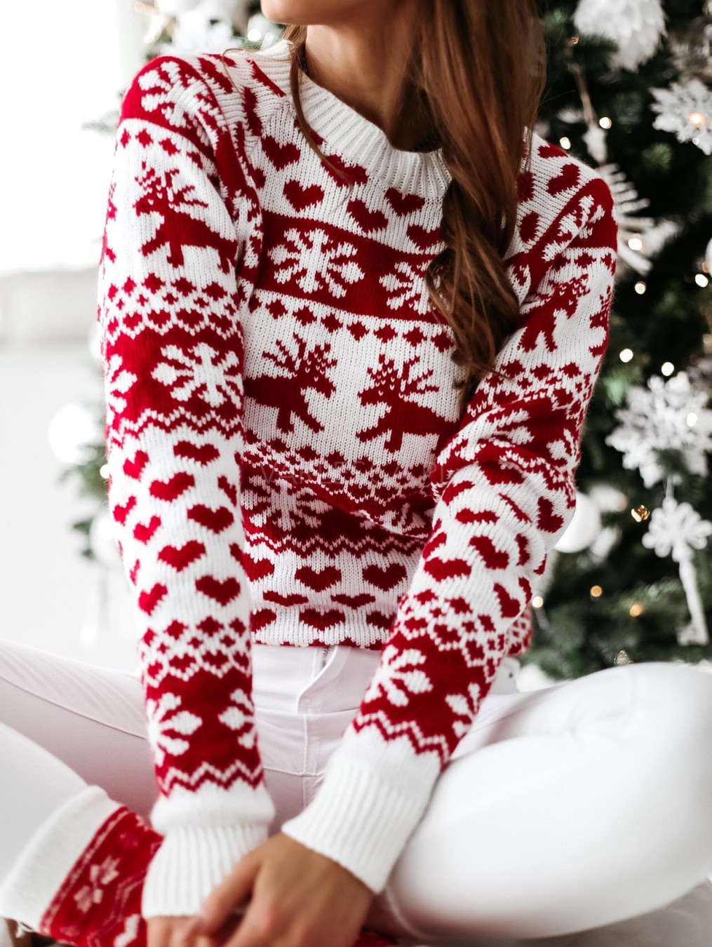 Fhuuly Christmas New Jumper Womens Long Sleeve O-Neck Christmas Hat and Cat Print Pullover T-Shirts Xmas Cap Casual Cute Sweatshirt Blouse for Teen Girls