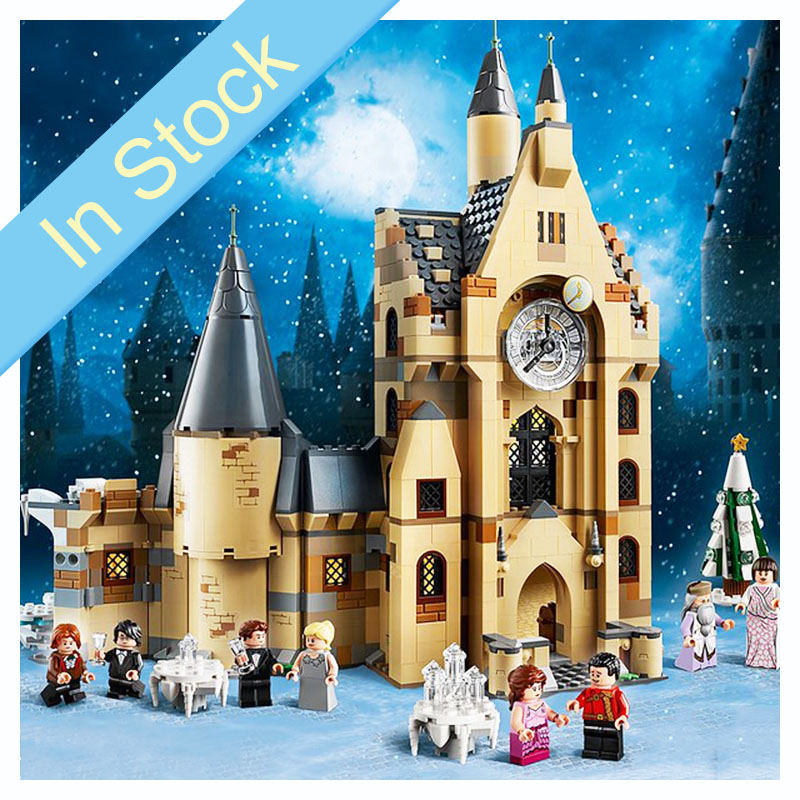 In Stocks NEW 75948 900pcs Potter Movie Serices Clock Tower Set Model Building Blocks Bricks Kids Toys Christmas Gift