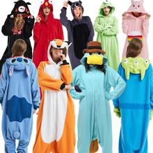 Пижамы для взрослых, для женщин и мужчин, одежда для сна с длинными рукавами, унисекс, с рисунком покемона, с рисунком животных, пижамные комплекты, пижамы с капюшоном