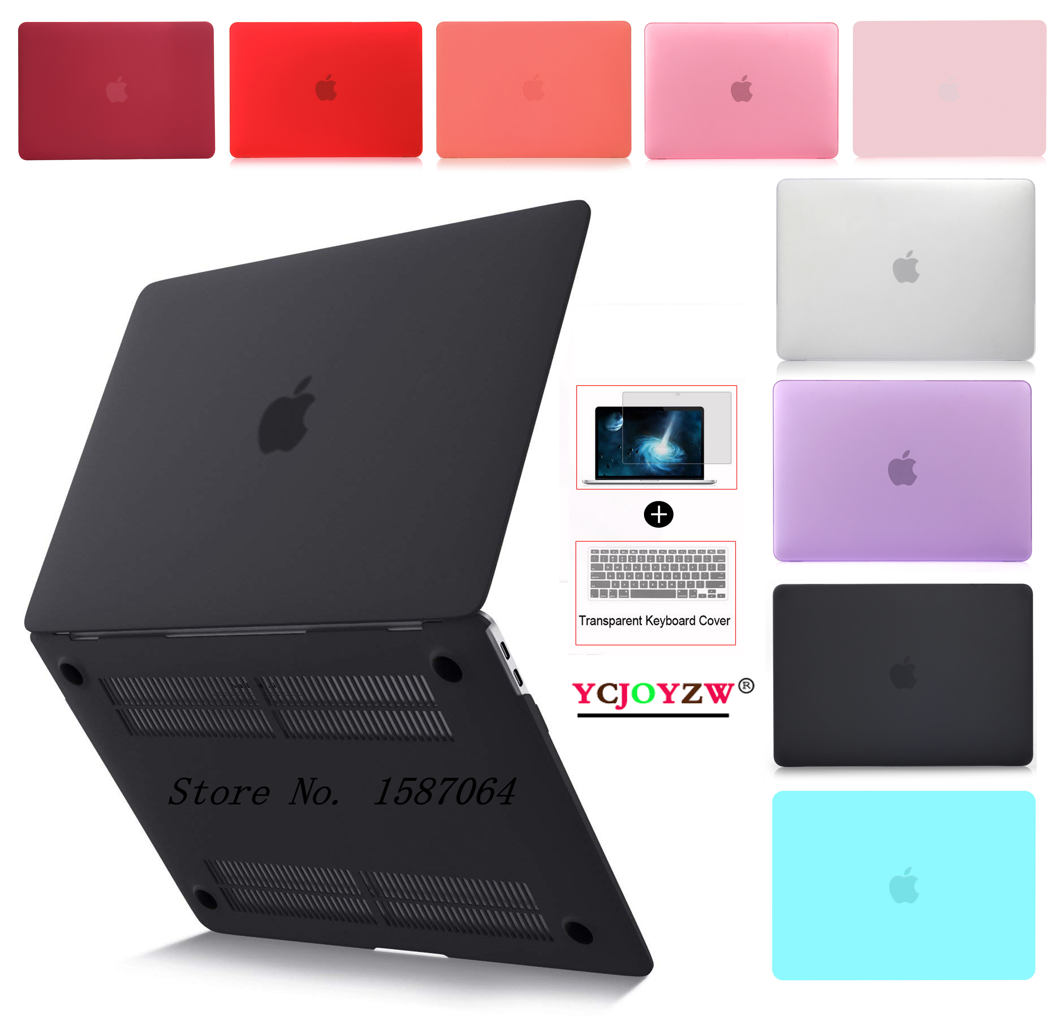 Laptop Case For Apple MacBook Air Pro Retina 11.6 12 13.3 15.4 Inch For Mac Book New Air 13 A1932 A2159 Pro 13 15 With Touch Bar