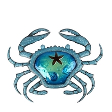 Christmas Gift of Metal Crab Wall Artwork for Home and Garden Decoration Statues Miniatures Decoration Outdoor Sculptures