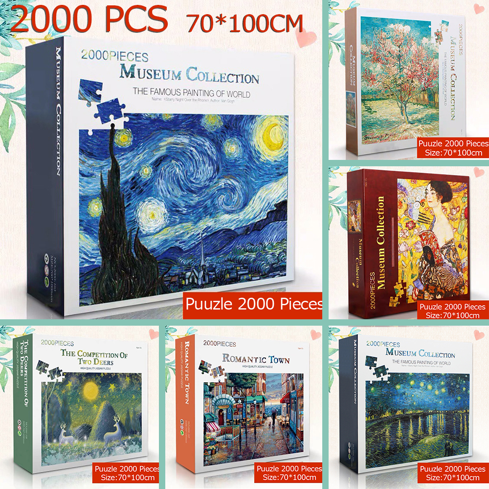 Puzzle 2000 Pieces 70*100 Cm Famous Painting Of World Adult Puzzles 2000 Kids Jigsaw Puzzle Creativity Imagine Educational Toys