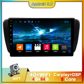 9 inch For Seat Ibiza 6j 2009-2013 Android 9.0 GPS Navigation DVD Player With Carplay DSP Car Multimedia Player 2 Din BT Radio 2 din car multimedia player 9 inch android 8 1 radio for mitsubishi pajero sport 2013 2018 gps navigation stereo