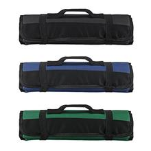 LOYPA Chef Knife Bag Roll Carry Case Kitchen Cooking Portable Durable Storage 22 Pockets Black Blue Green
