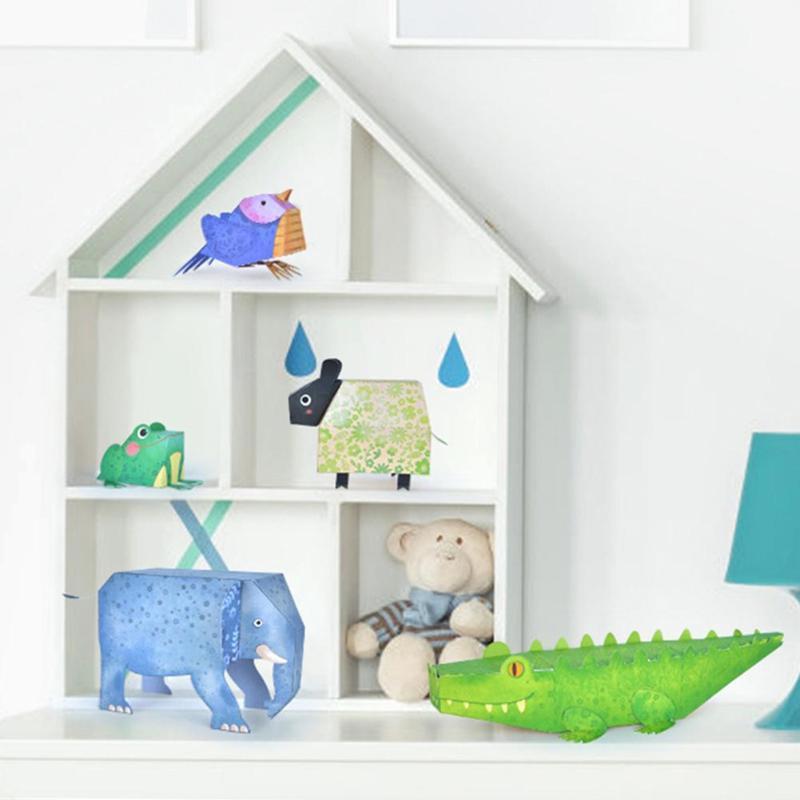 3D Paper Model Cartoon Children Origami Book Kindergarten Paper-Cut Toys