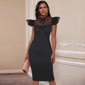 Ocstrade Lace Black Bodycon Dress 2020 New Arrival Summer Women Sexy Club Celebrity Evening Party