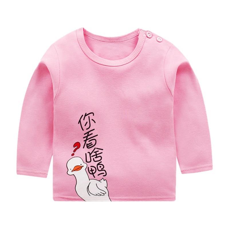 Autumn Winter Kids Sweatshirt Tops New Pullover Tee Long Sleeve T-shirt Baby Boys Girls Clothes 3