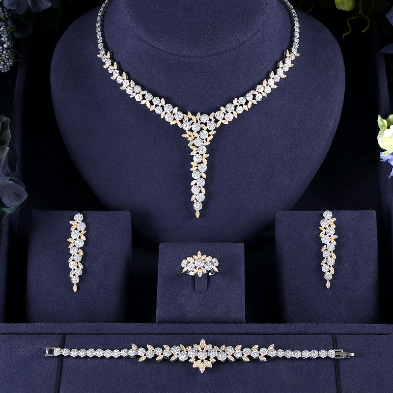 H128acdbf3e0e4d8ebe3567e78fd855394 jankelly  Hotsale African 4pcs Bridal Jewelry Sets New Fashion Dubai Jewelry Set For Women Wedding Party Accessories Design