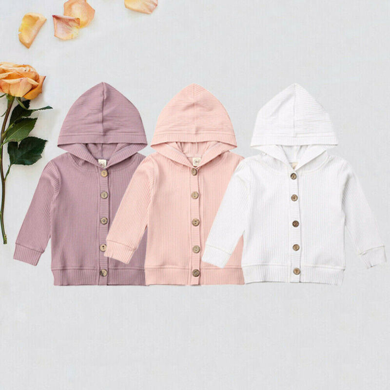 2019 Autumn Clothes  Newborn Baby Boys Girls Clothes Knitted Sweater  Hooded Jackets Coats 0-24 Months