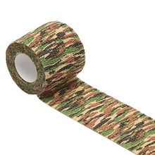 High Quality Practical Outdoor Camping Hunting Shooting Army Camo Blind Wrap Camouflage Stealth Tape Waterproof Elastic Bandage(China)