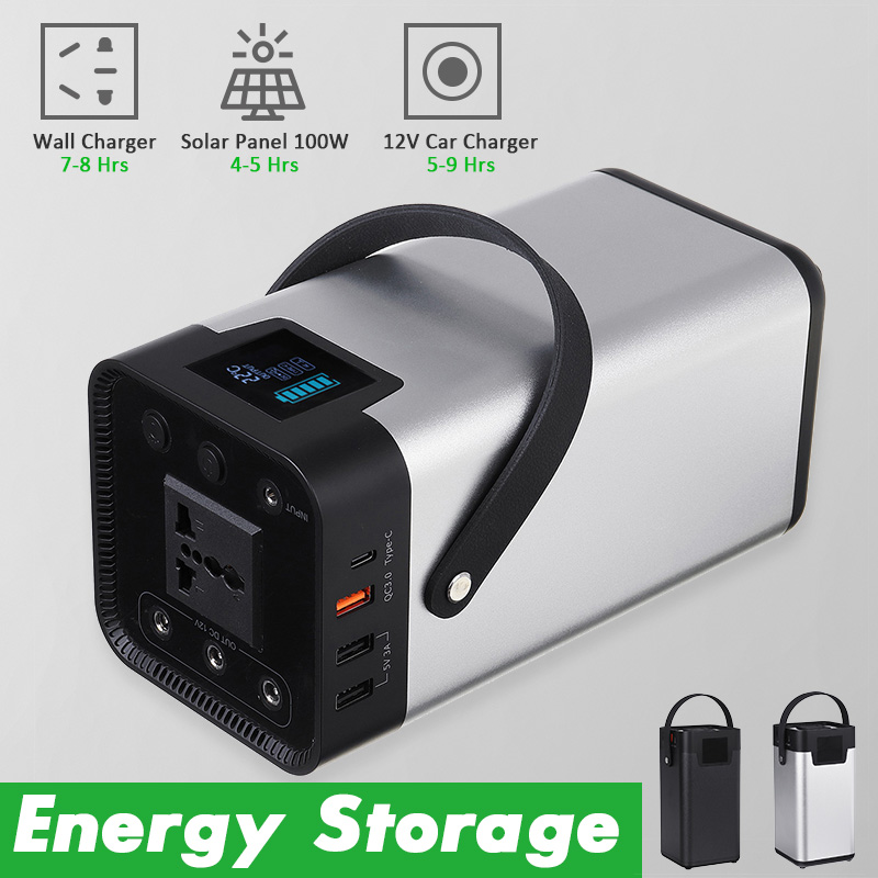54600mAh Power Bank 200W Portable Solar Generator Energy Storage Mobile Power Supply 110/220V Outdoor UPS Battery Charge Storage