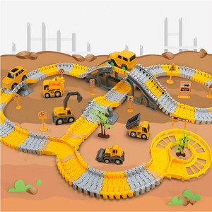 Variety Railway Tracks Car Toys DIY Flexible Bend Magical Track Road Kits Electric Rail Car Assembly Toys Gifts for Children