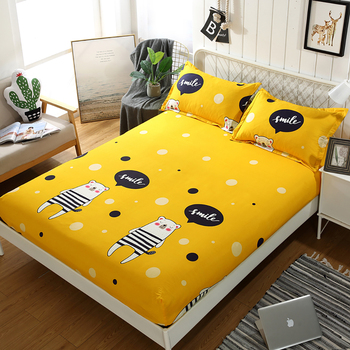 Bedding Fibre Fixed Bedspread Mattress Cover Dustproof Protect Solid And Durable Fitted Sheet Singleton Antislip Polyester image